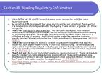 section 15 reading regulatory information73