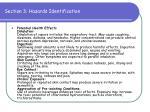 section 3 hazards identification49