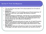 section 4 first aid measures