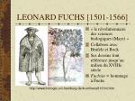 leonard fuchs 1501 1566