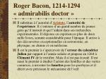 roger bacon 1214 1294 admirabilis doctor