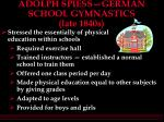 adolph spiess german school gymnastics late 1840s