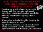 attitudes toward sports held by students in the public schools47