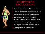 competitor regulations