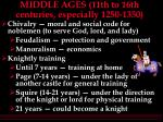 middle ages 11th to 16th centuries especially 1250 1350
