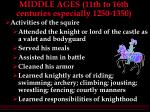 middle ages 11th to 16th centuries especially 1250 135027