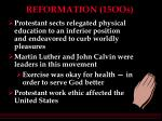 reformation 15oos