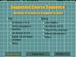 suggested course sequence bachelor of science in computer science8