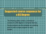 suggested course sequence for a bs degree
