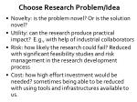 choose research problem idea