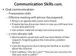 communication skills cont