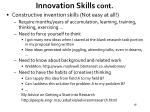 innovation skills cont