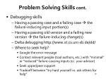 problem solving skills cont