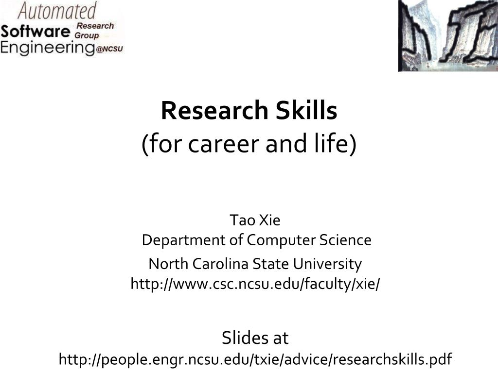 research skills for career and life l.
