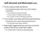 self directed and motivated cont