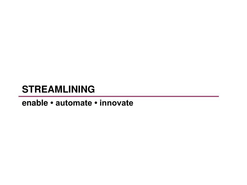 streamlining l.
