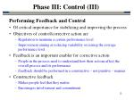 phase iii control iii