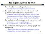 six sigma success factors