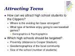 attracting teens