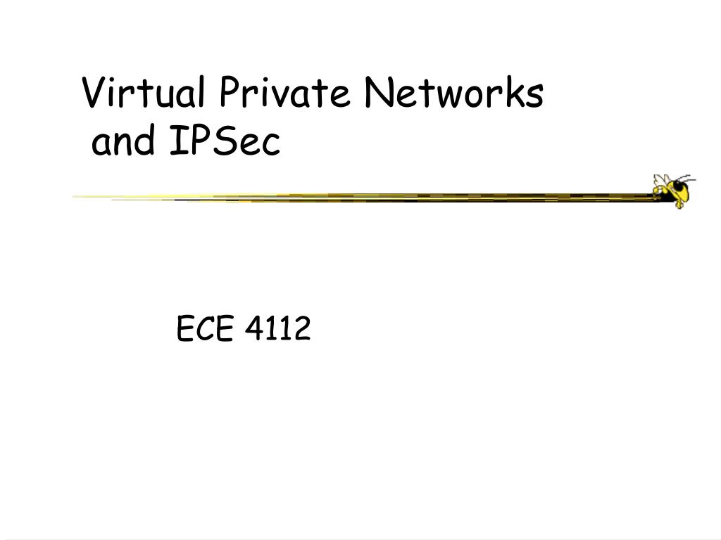 virtual private networks and ipsec l.