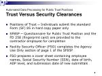 automated data processing for public trust positions trust versus security clearances