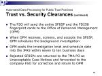 automated data processing for public trust positions trust vs security clearances continued11