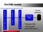 perl dbi module