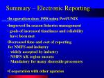 summary electronic reporting