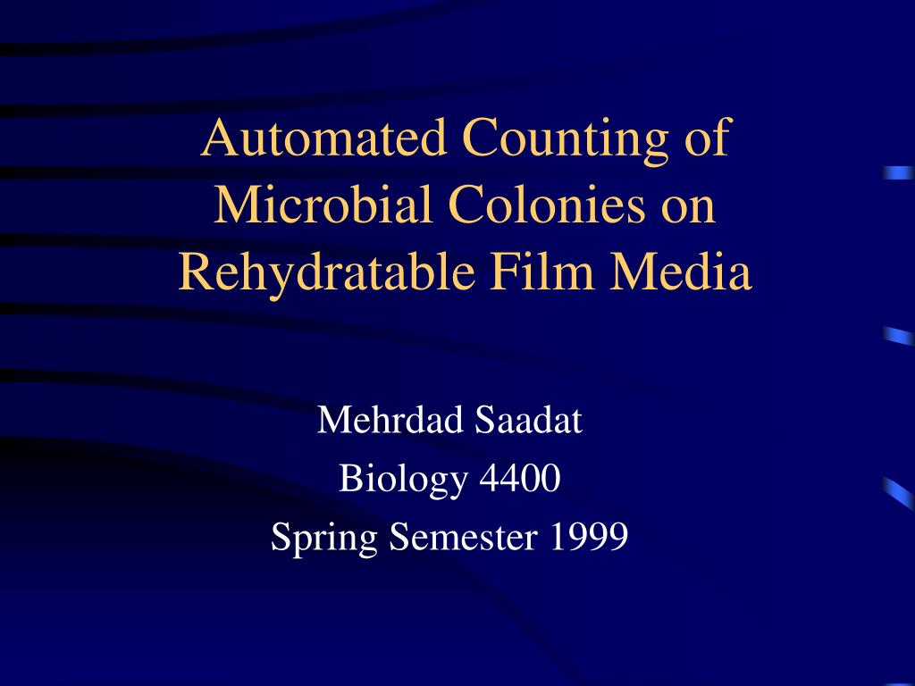 automated counting of microbial colonies on rehydratable film media l.