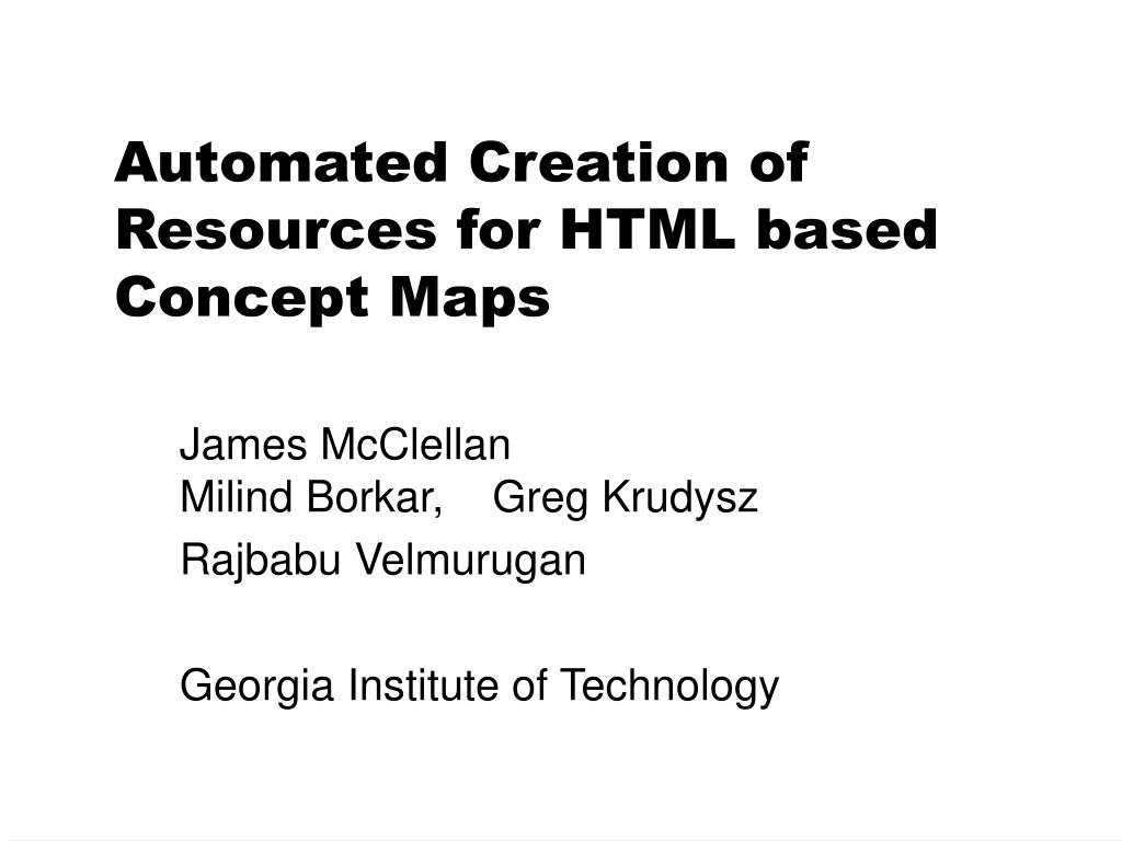 automated creation of resources for html based concept maps l.