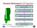 solution refinement icp algorithm