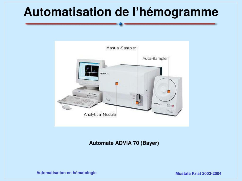 automatisation de l h mogramme l.
