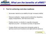 what are the benefits of erms
