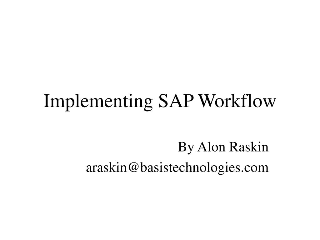 implementing sap workflow l.