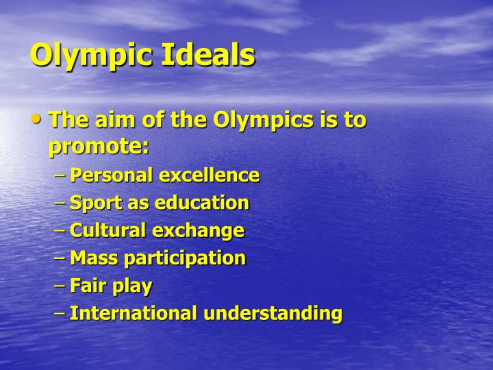 Olympic ideals