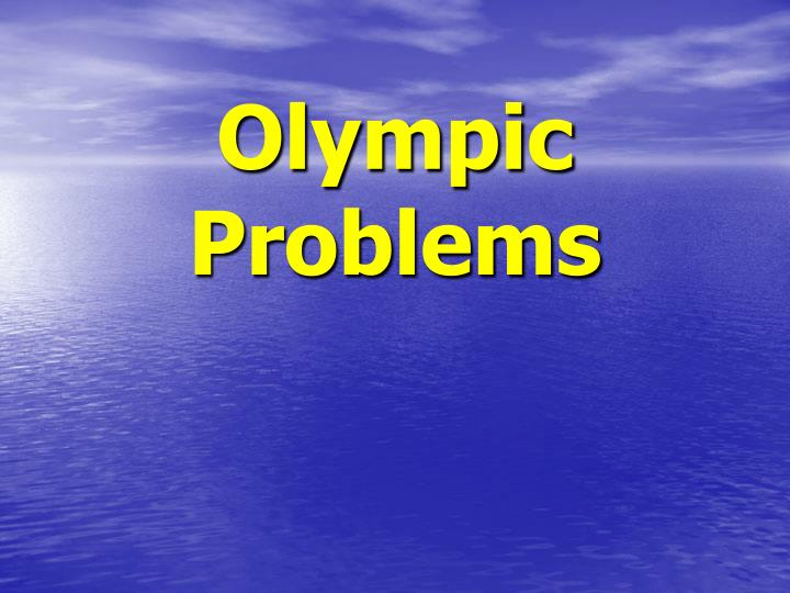 olympic problems n.