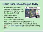 gis in dam break analysis today