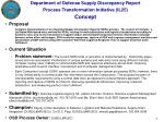 department of defense supply discrepancy report process transformation initiative il25 concept