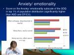anxiety emotionality