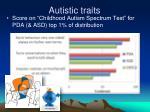 autistic traits