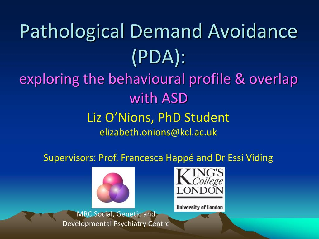 pathological demand avoidance pda exploring the behavioural profile overlap with asd l.