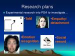 research plans