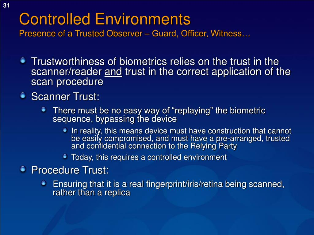 Controlled Environments