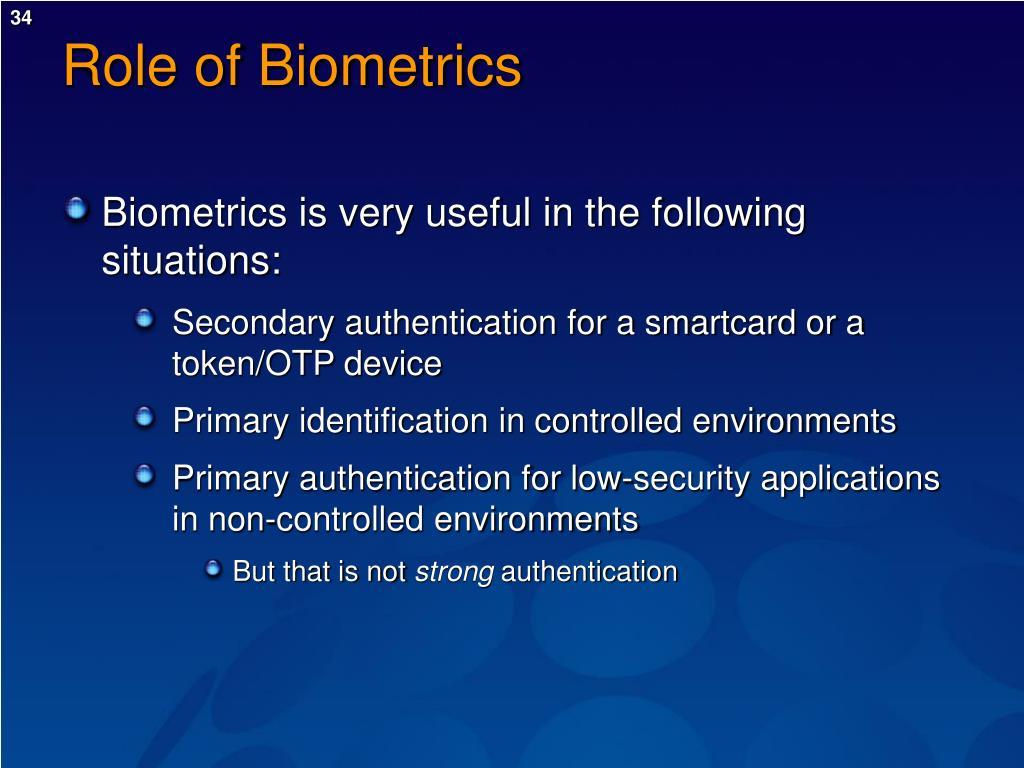Role of Biometrics