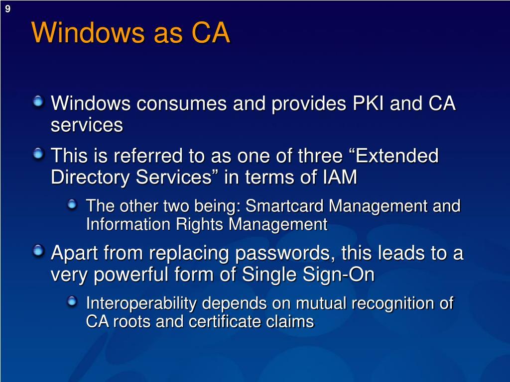 Windows as CA