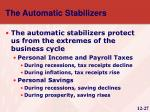 the automatic stabilizers