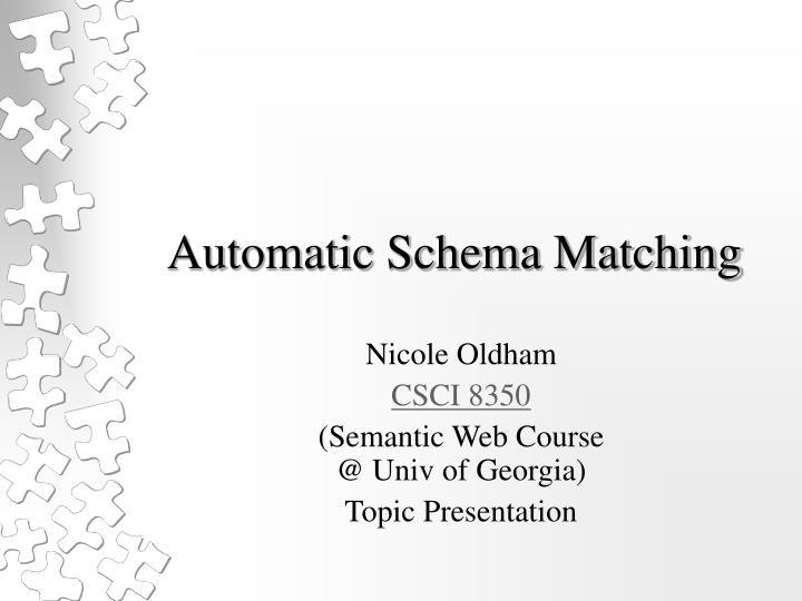 automatic schema matching n.