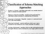 classification of schema matching approaches