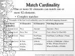 match cardinality
