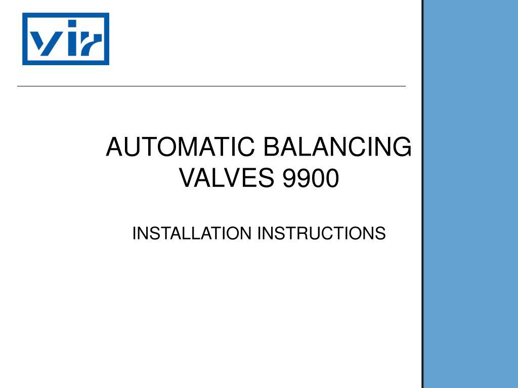 automatic balancing valves 9900 l.